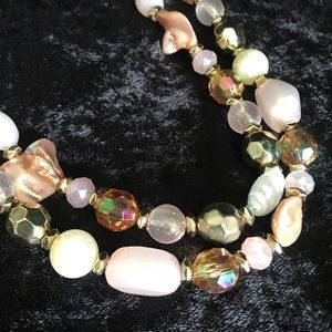 Pretty in pink double strand necklace by Ruby Rd.